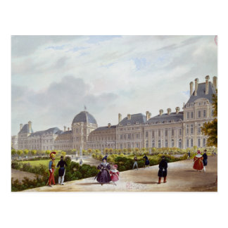 Carte Postale Le Tuileries pendant la restauration