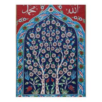 Carte Postale Le turc bleu et rouge couvre de tuiles l'ARBRE DE