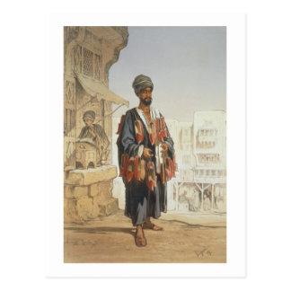 """Carte Postale Le vendeur de pantoufle, du """"souvenir du Caire"""","""