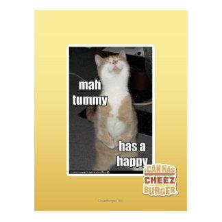 Carte Postale Le ventre d'heure-milliampère a un heureux
