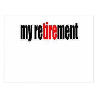 Carte Postale le vieux jour de pension retiré par retraite