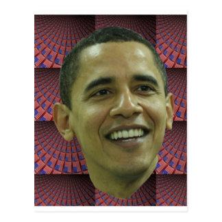 Carte Postale Le visage de Barack Obama
