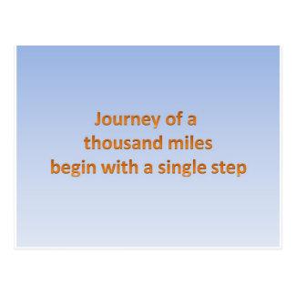 Carte Postale Le voyage de mille milles commencent par un pas à