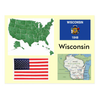 Carte Postale Le Wisconsin, Etats-Unis