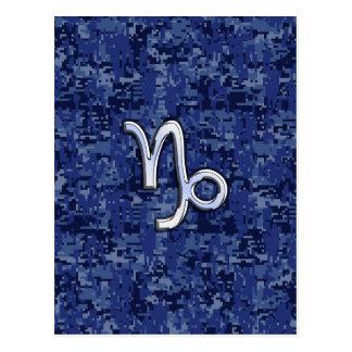 Carte Postale Le zodiaque de Capricorne se connectent le camo