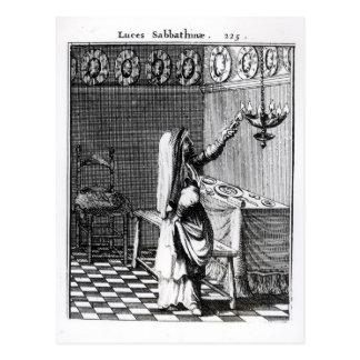 Carte Postale L'éclairage des bougies de sabbat