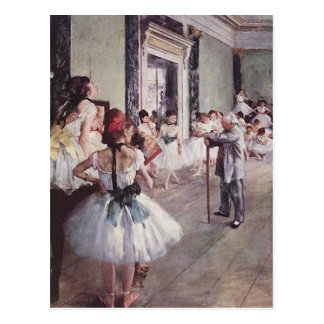 Carte Postale Leçon de ballet d'Edgar Degas