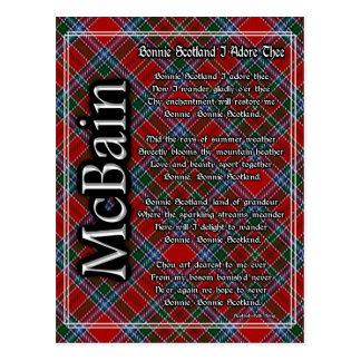 Carte Postale L'Ecosse mignonne j'adore le tartan de McBain de