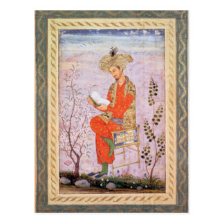 Carte Postale Lecture de Babur, Mughal