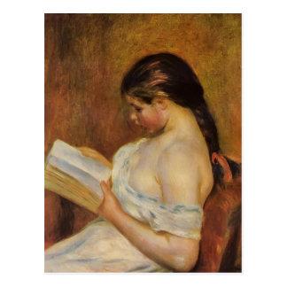 Carte Postale Lecture de jeune fille de Pierre-Auguste Renoir-