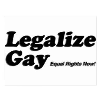 Carte Postale Légalisez l'homosexuel