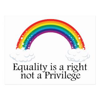 Carte Postale L'égalité est un juste pas un privilège