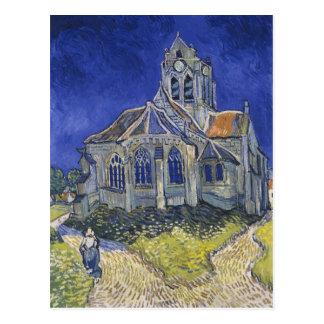 Carte Postale L'église dans Auvers par Vincent van Gogh