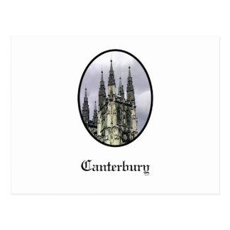 Carte Postale L'église de l'Angleterre Cantorbéry se développe
