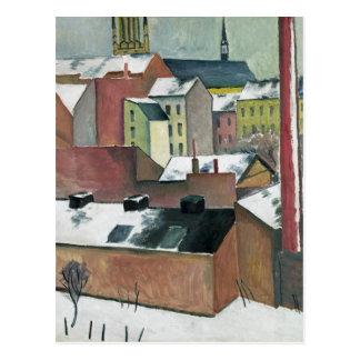 Carte Postale L'église de St Mary à Bonn en Snow, 1911