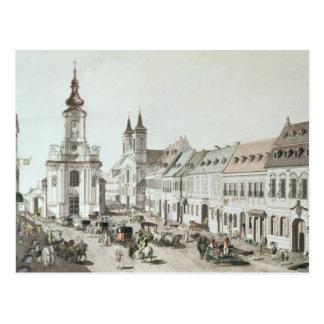 Carte Postale L'église paroissiale et le cimetière de Fauxbourg