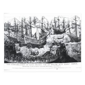 Carte Postale L'embarquement de Henry VIII à Douvres
