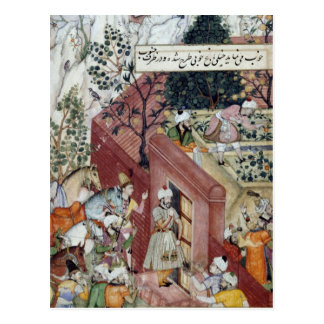 Carte Postale L'empereur Babur de Mughal