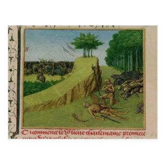 Carte Postale L'empereur Charlemagne trouve Roland