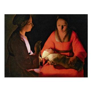 Carte Postale L'enfant nouveau-né, 1640s en retard