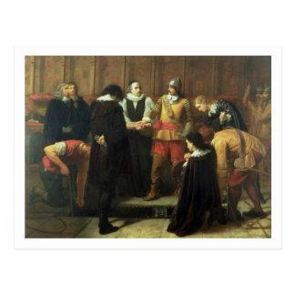 Carte Postale L'enterrement de Charles I (1600-49) à St George