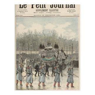 Carte Postale L'enterrement de l'empereur du Brésil