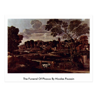 Carte Postale L'enterrement de Phocus par Nicolas Poussin