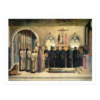 Carte Postale L'enterrement de St Jerome, c.1470-1472 (l'huile