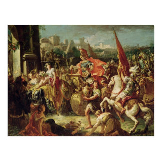 Carte Postale L'entrée d'Alexandre le grand