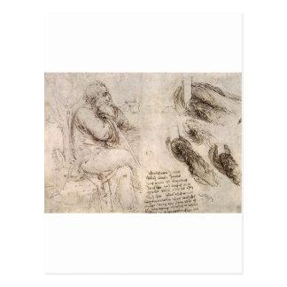 Carte Postale Leonardo da Vinci, autoportrait possible