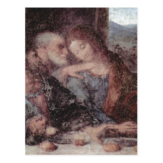 Carte Postale Leonardo da Vinci DAS Abendmahl, détail 1495-1497