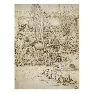 Carte Postale Leonardo DA Vinci- un parc d'artillerie