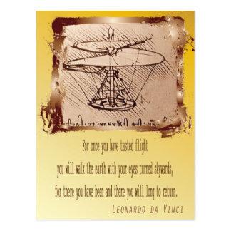 Carte Postale Leonardo d'hélicoptère de da Vinci