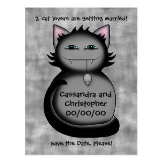 Carte Postale Les amoureux de les chats drôles sauvent le