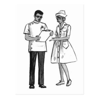 Carte Postale Les années 60 vintages docteur de kitsch et