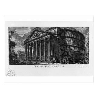 Carte Postale Les antiquités romaines, T. 1, plat XIV. Panthéon
