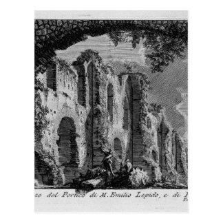 Carte Postale Les antiquités romaines, T. 1, plat XX. Portique…
