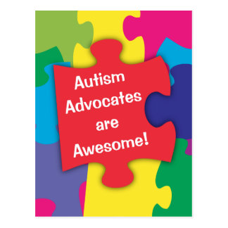 Carte Postale Les avocats d'autisme sont impressionnants