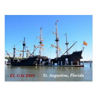 Carte Postale Les bateaux de galion