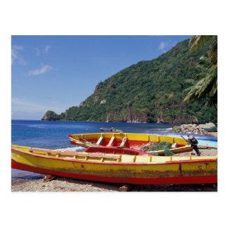 Carte Postale Les Caraïbe, BWI, St Lucia, voiliers, Soufriere.