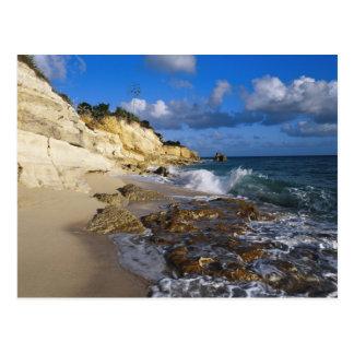 Carte Postale Les Caraïbe, St Martin, falaises chez Cupecoy