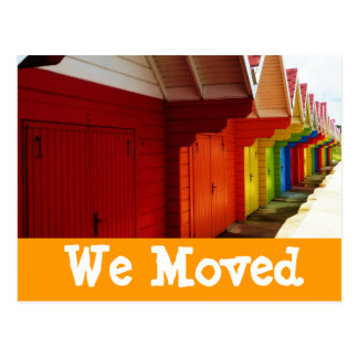 Carte Postale Les Chambres de plage colorées nous avons déplacé