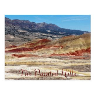 Carte Postale Les collines peintes du voyage de l'Orégon