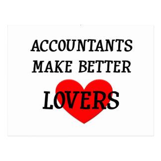 Carte Postale Les comptables font de meilleurs amants
