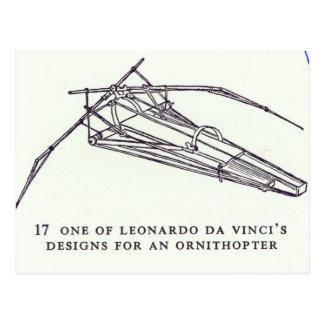 Carte Postale Les conceptions de Leonardo da Vinci pour un