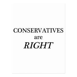 Carte Postale Les conservateurs ont raison