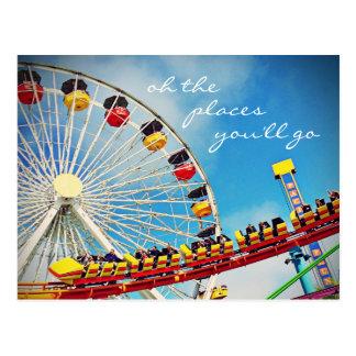 """Carte Postale Les """"endroits"""" citent la roue de ferris et la"""