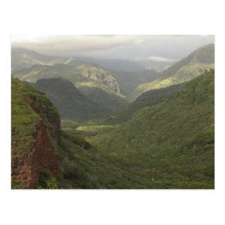 Carte Postale Les Etats-Unis, Hawaï, Kauai, canyon donnent sur.