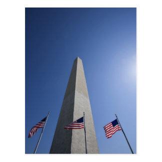 Carte Postale Les Etats-Unis, Washington, drapeaux américains de