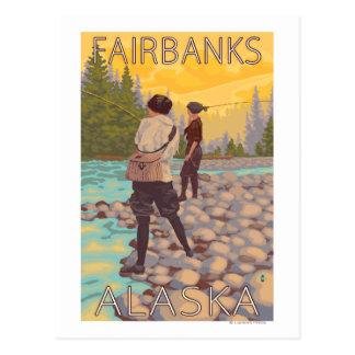 Carte Postale Les femmes pilotent la pêche - Fairbanks, Alaska